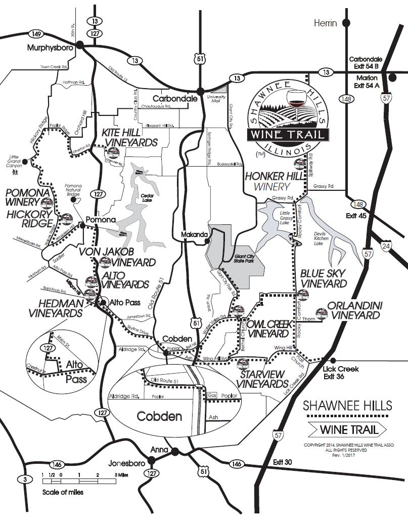 Shawnee Wine Map
